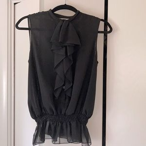 Black chiffon blouse from Kenneth Cole New York